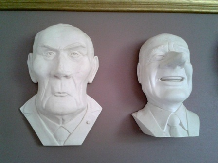 Sculptures Caricatures Présidents brut